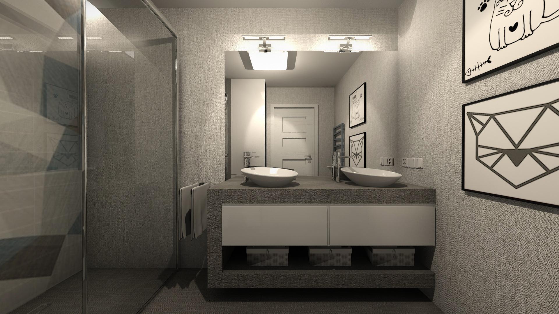 łazienka Dla Dzieci W Skandynawskim Mieszkaniu W Jaworznie