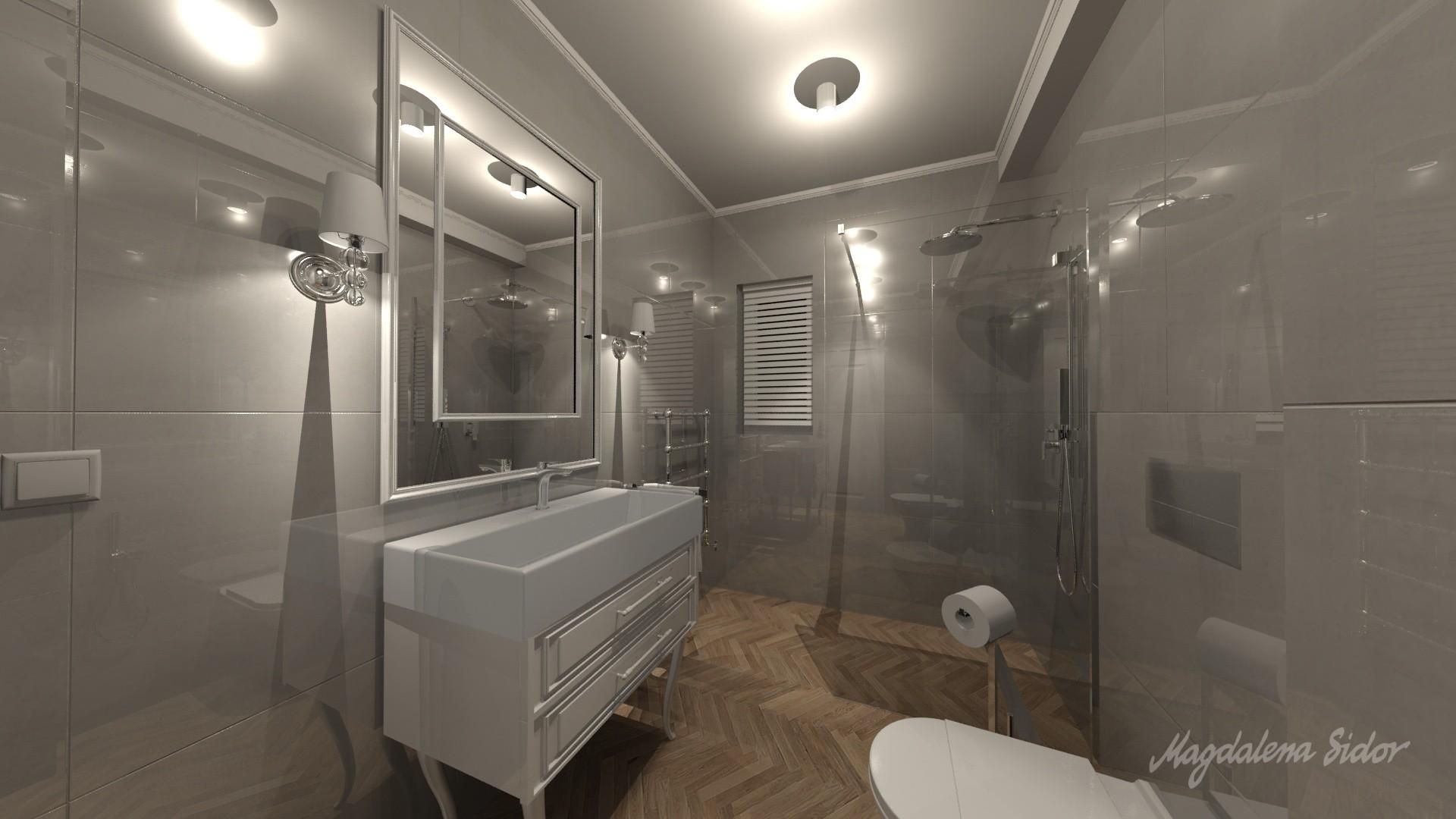 Krakowski Dom W Stylu Hampton łazienka Na Parterze