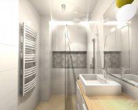 Po skandynawsku - dom szeregowy w Będzinie - łazienki