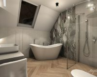 Dom szeregowy z zielenią w Gliwicach - łazienki