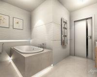 Biała łazienka w domu jednorodzinnym w Orzeszu