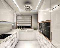 Biała kuchnia w domu jednorodzinnym w Orzeszu