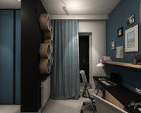 Apartament z granatem w Chorzowie - gabinet