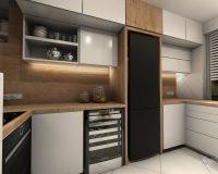 Czarne akcenty w nowej kuchni w domu jednorodzinnym w Mikołowie