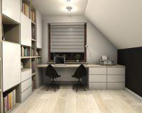 Nowoczesny dom w Będzinie - biuro
