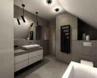 Nowoczesny dom w Będzinie - łazienka