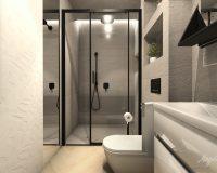 Czarne akcesoria w łazience domu w Krakowie