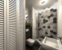 Apartament z granatem w Chorzowie - łazienki