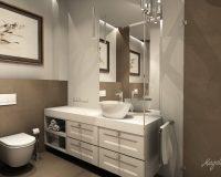 Klasyczna elegancja - łazienka w mieszkaniu w Borowej Wsi