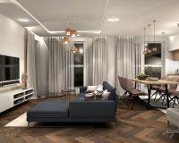 Apartament z różem i granatem w Gliwicach