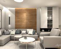 Drewno i biel - otwarta przestrzeń domu w Łaziskach Górnych