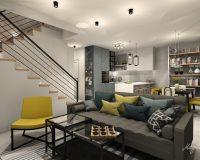 Po skandynawsku - dom szeregowy w Będzinie - open space