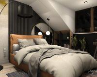 Jesienna sypialnia w domu jednorodzinnym w Jaworznie