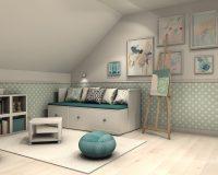 Pokój małej artystki w domu w Krakowie