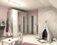 Na różowo - pokój dziewczynki w domu w Krakowie