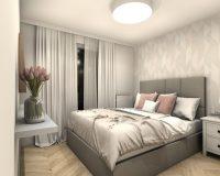 Apartament na wynajem w Katowicach - sypialnia