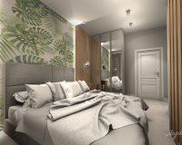 Apartament z granatem w Chorzowie - sypialnia