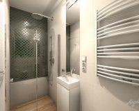 Mozaika arabeska w łazience szeregówki w Dąbrowie Górniczej