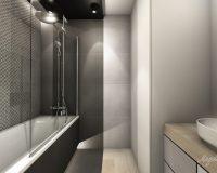 Motyw 3D w łazience w mieszkaniu w Tychach