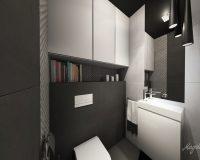 Motyw 3D w toalecie w mieszkaniu w Tychach